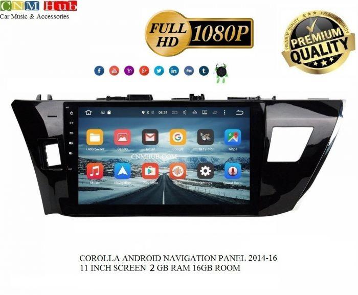 Toyota Corolla Android Navigation Panel 2014-2016